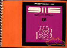 PORSCHE 911 OWNERS MANUAL 1971 911E HANDBOOK GUIDE BOOK 71 RESTORATION