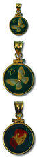 Philippines Enameled Jewelry Coin Pendant Butterfly 25 Sentimo 1994 w/Bezel