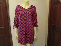 Red/Navy Geometric Shift Dress by Mud Pie, Size Small, NWT