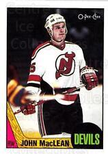 1987-88 O-pee-chee Blank Backs #191 John MacLean