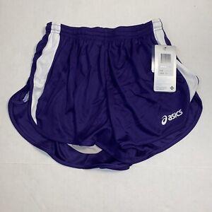 Asics Medley 1/2 Split Running Shorts Purple Drawstring Liner, Women's Size Sm