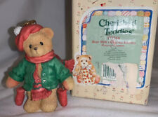 Enesco 1996 Cherished Teddies 'Bear With Red Dangling Mittens' Ornament #177768