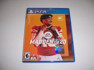 Replacement Box Case MADDEN NFL 20 Sony PlayStation 4 PS4 ORIGINAL *NO DISC*
