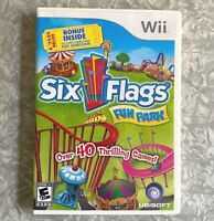 Six Flags Fun Park Nintendo Wii Complete w/ Manual TESTED Fast Ship! Theme