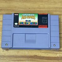 Super Mario All-Stars + Super Mario World - SNES Nintendo Game Authentic!