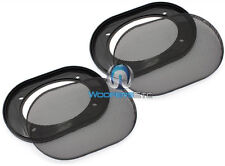 "4X6"" GRILLS CAR AUDIO SPEAKER COAXIAL PROTECTIVE COVERS PAIR 4""X6"" UNIVERSAL NEW"