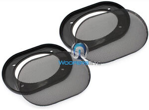 """4X6"""" GRILLS CAR AUDIO SPEAKER COAXIAL PROTECTIVE COVERS PAIR 4""""X6"""" UNIVERSAL NEW"""