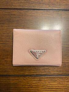 PRADA  Leather Card Holder Wallet Pink - Genuine - Never Used