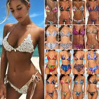 Women Bikini 2pc Set Bandage Push-Up Padded Swimwear Swimsuit Bathing Brazilian