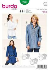 BURDA SEWING PATTERN LADIES casual or classic BLOUSE   SIZE 8 - 20 6908