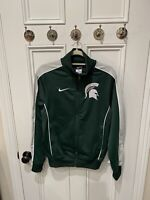 Nike Michigan State Spartans Men's Small Zip Up Jacket Dri Fit