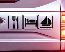 1x EAT SLEEP SAILING STICKER DECAL CAR BIKE GRAPHIC 18CM wide
