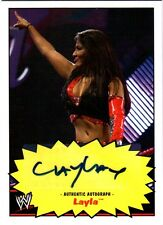 WWE Layla Topps Heritage 2012 Authentic Autograph Card
