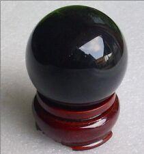 Belle obsidienne de quartz naturel boule de cristal 60 mm+Stand