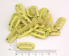 10 X HAIR PIECE WIG CLIP EXTENSIONS SNAP CLIPS BLONDE 2.8cm