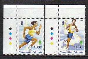 Solomon Is 2000 Summer Olympic Games--Attractive Sports Topical (901-02) MNH
