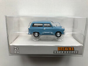 Trabant P 50 Break, Bleu Clair, H0 Modèle Auto 1:87, Brekina 27550