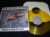 """The Stone Roses Fools Gold 9.53 12"""" Single NM GOLD Vinyl Record 1315-1-JD 1990"""