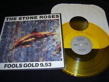 "The Stone Roses Fools Gold 9.53 12"" Single NM GOLD Vinyl Record 1315-1-JD 1990"