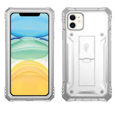 iPhone 11 Pro Max Case,Poetic Rugged Shockproof Cover With Kick-stand White