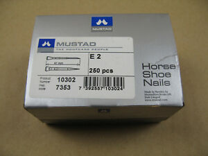 Hufnägel Hufnagel Horse Shoe Nails Mustad Schweden 250 Stück Gr. E 2