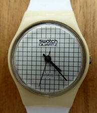 Lady's Vintage Swatch TENNIS GRID 1983 New Strap