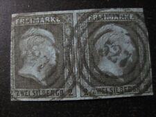 PRUSSIA PREUSSEN GERMAN STATES Mi. #3 scarce used stamp pair! CV $132.50