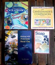 4 tolle Bastelbücher: Kerzen Seifen PMC Stempeln Scrapbooking Anleitungen Buch