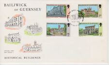 Unaddressed Guernsey FDC First Day Cover 1976 Historical Buildings 10% off 5