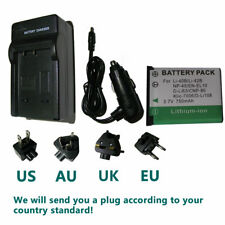 Battery + Charger For Fujifilm NP45,NP-45 NP-45A,NP-45B, NP-45S Rechargeable