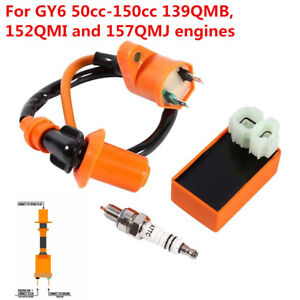 Racing CDI+Spark Plug+ Ignition Coil For Gy6 125cc 150cc 4-stroke Scooter Parts
