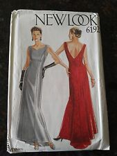 New Look Sewing Pattern 6192 Special Occasion, Wedding Gown, Fishtail train 8-18