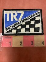 Vtg TRIMPH TR7 Race Car / Auto Related Patch - Shape Of Things That Win 75X3