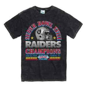 47 Brand Mens Las Vegas Oakland Raiders Super Bowl XVIII 18 T-shirt NEW  '47
