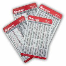 4  Starrett pocket charts