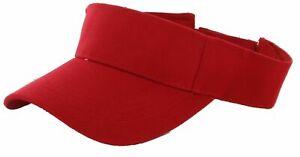 Visor Sun Hat Cap Golf Tennis Beach Men Women Adjustable Sport Plain Solid Color