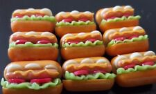 New 9 Pcs Dollhouse Miniatures Food & Groceries Supply Handcrafted Hot Dogs N
