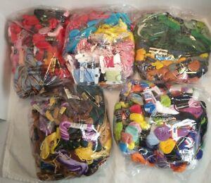 Large Lot of Embroidery Floss Needlepoint Yarn DMC JP Coats & More 2 lbs 3 oz.