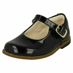 Filles Clarks Smart Boucle Fermeture Chaussures Drew Sky