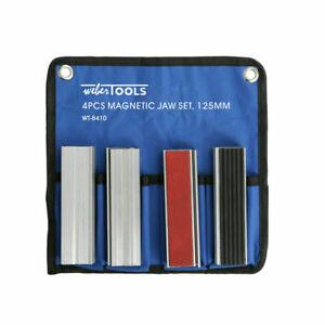 Schraubstock Schutzbacken 8x Schonbacken 125 mm Magnet Aluminium Backen