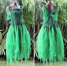 PLUS SIZE Fairy Dress Party Costume with Wings - Forest Green Tinkerbell