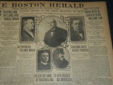 1906 AUGUST 31 THE BOSTON HERALD - BRYAN WEEPS AS 20,000 WELCOME HIM - BH 105