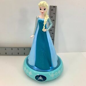 Disney Frozen Elsa Figure Night Light Auto Shut Off Child Safe LED Blue Light