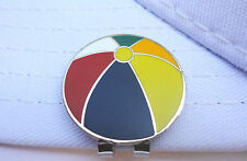 Beach Ball Golf Ball Marker - W/Bonus Magnetic Hat Clip