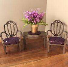 BARBIE KEN OOAK FURNITURE 1:6 SCALE LIVING ROOM CHAIRS TABLE  PLANTS
