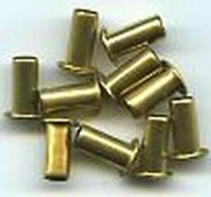 "3/16""x1/4"" Solid Brass EYELETS (10) for Standard Gauge Trains"