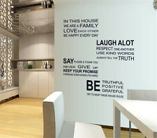 Polite English Home Decor Removable Wall Sticker/Decal/Decoration