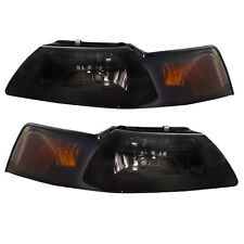 1999-2004 Mustang or Cobra  Ultra Smoke  Headlights w/ 9007 Xenon Bulbs