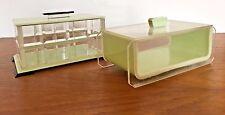 Pair Of Art Deco Bakelite Or Lucite Trinket Boxes