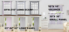 1PC CHEVRON PRINTED PANEL VOILE SHEER WINDOW DRESSING CURTAIN TREATMENT NEW